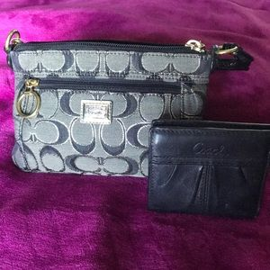 Authentic Signature Coach purse and wallet